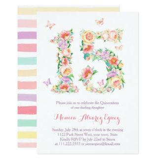 Invitaciones Quinceañera con mariposas butterflies Card