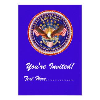 "Invitation 3.5"" x 5"" America not forgotten...."