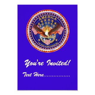 """Invitation 3.5"""" x 5"""" America not forgotten.... 3.5"""" X 5"""" Invitation Card"""