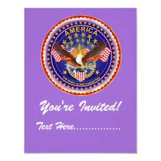"""Invitation 4.25"""" x 5.5"""" America not forgotten.... 4.25"""" X 5.5"""" Invitation Card"""