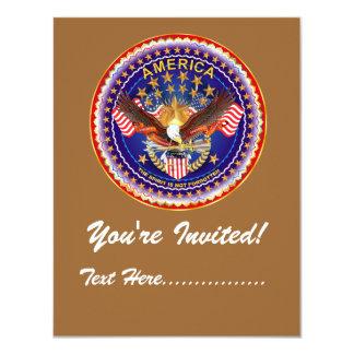 "Invitation 4.25"" x 5.5"" America not forgotten...."