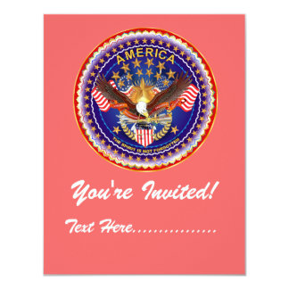 "Invitation 4.25"" x 5.5"" America not forgotten...."