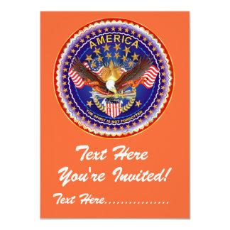 "Invitation 4.5"" x 6.25"" America not forgotten...."