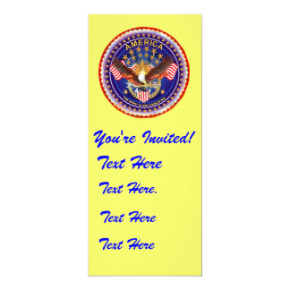 "Invitation 4"" x 9.25"" America not forgotten...."