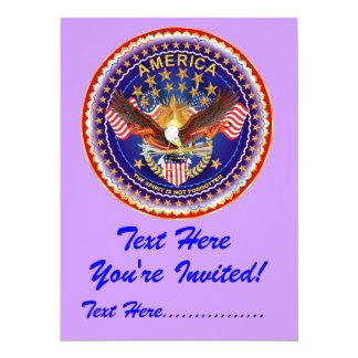 "Invitation 5.5"" X 7.5""  America not forgotten...."
