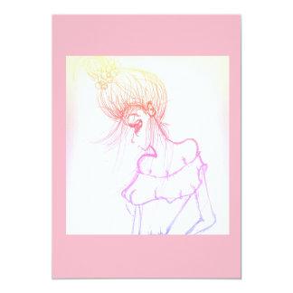 invitation 5x7 pink