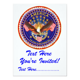 "Invitation 6.5"" x 8.75""  America not forgotten...."
