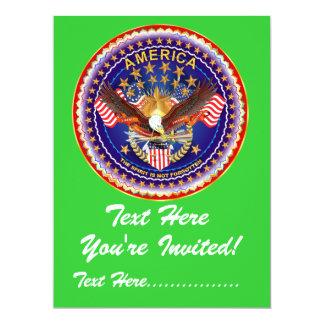 "Invitation 6.5"" x 8.75""  America not forgotten...."