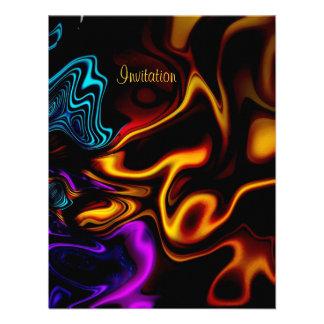 Invitation Abstract Melting Silk 2 Invites