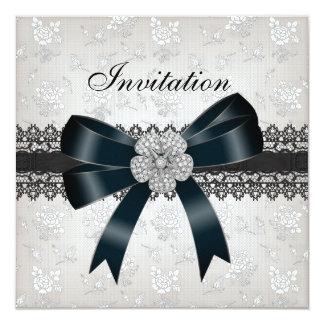 Invitation All Occasions Diamond Jewel Black Bow