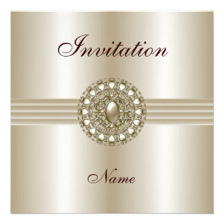 Invitation All Occasions Elegant Pearl Gem 2 Invitation