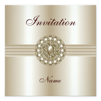 Invitation All Occasions Elegant Pearl Gem 2