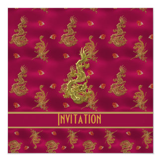 Invitation All Occasions ZIZZAGO Asian Pink Red