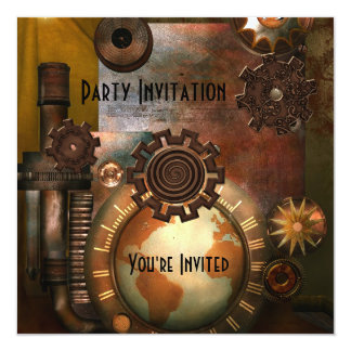 Invitation All Occasions Zizzago Steampunk Design