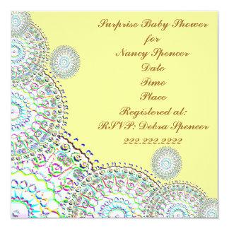 Invitation/Announcement Birth, Baptism, Shower 13 Cm X 13 Cm Square Invitation Card