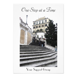 Invitation -  At the Spanish Steps (one step)