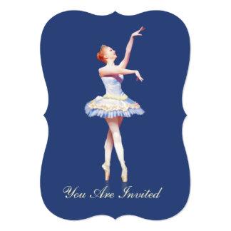 Invitation, Birthday Party, Ballerina On Pointe