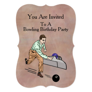 Invitation, Birthday Party, Bowling 13 Cm X 18 Cm Invitation Card