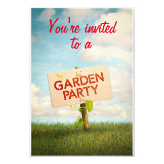 Invitation card in Garden Party