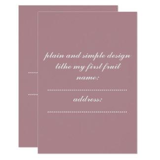 invitation card standard white enveloped included