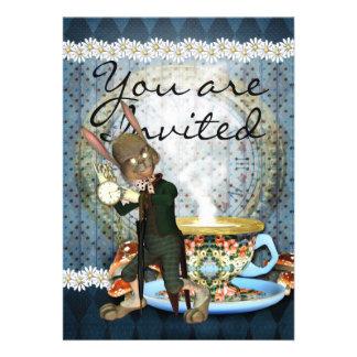 Invitation Card With Rabbit Personalise Invitation