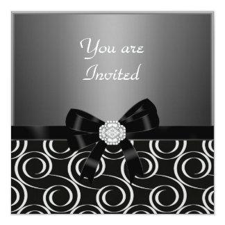 Invitation charcoal Stylish birthday   Party