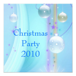 Invitation Christmas Party Blue & Silver