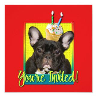Invitation Cupcake 2 Year Old - French Bulldog