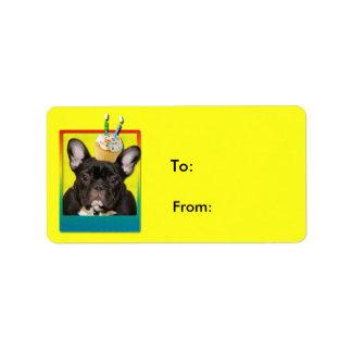 Invitation Cupcake 2 Year Old - French Bulldog Address Label