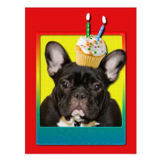 Invitation Cupcake 2 Year Old - French Bulldog Postcard