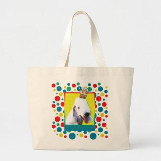 Invitation Cupcake - Bedlington Terrier Jumbo Tote Bag