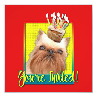 Invitation Cupcake - Brussels Griffon
