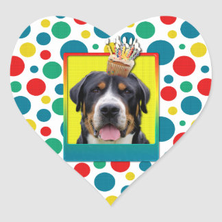 Invitation Cupcake - Greater Swiss Mountain Dog Sticker