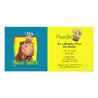 Invitation Cupcake - Shar Pei - Lucky Photo Greeting Card