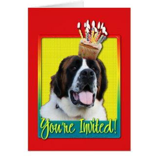 Invitation Cupcake - St Bernard - Mae Greeting Card