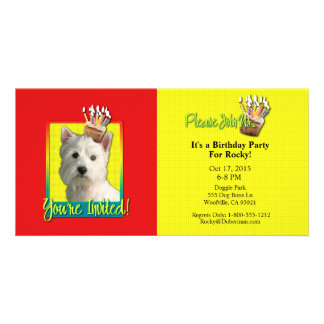 Invitation Cupcake - West Highland Terrier Photo Cards