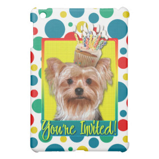 Invitation Cupcake - Yorkshire Terrier Cover For The iPad Mini