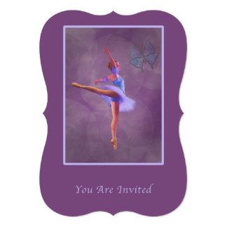Invitation, Dance Recital, Ballerina 13 Cm X 18 Cm Invitation Card