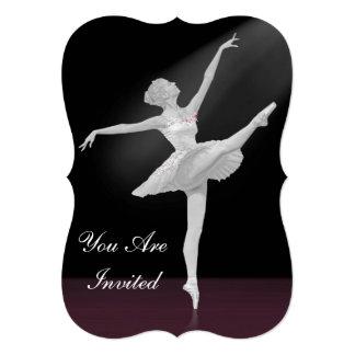 Invitation, Dance Recital, Ballerina Card