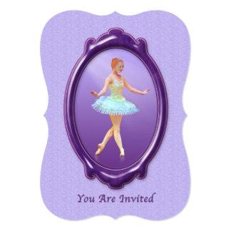 Invitation, Dance Recital, Ballerina, Customizable 13 Cm X 18 Cm Invitation Card