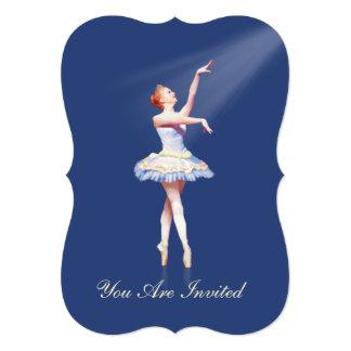 Invitation, Dance Recital, Ballerina On Pointe 13 Cm X 18 Cm Invitation Card