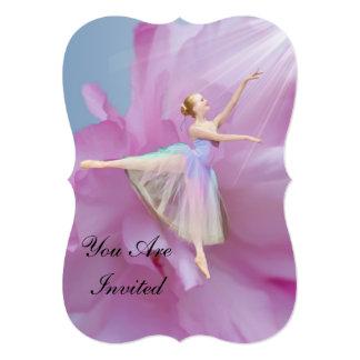 Invitation, Dance Recitals, Ballerina 13 Cm X 18 Cm Invitation Card