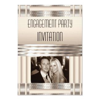 Invitation Engagement Party Cream Art Deco