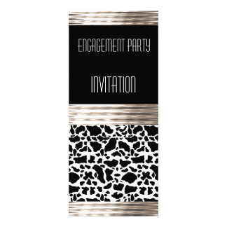 Invitation Engagement Party Deco Cow Skin Personalized Invites