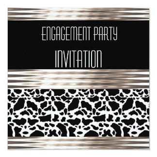 Invitation Engagement Party Deco Cow Skin