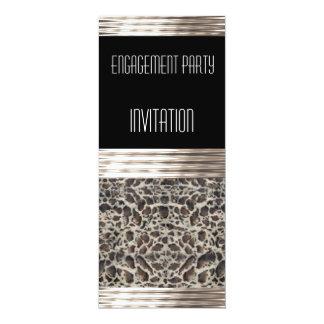 Invitation Engagement Party Deco Ocelot Skin