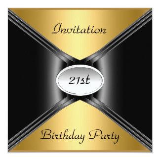 Invitation Envelope Any Birthday Gold color