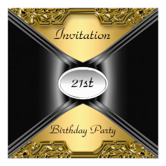 Invitation Envelope Any Birthday Gold color Custom Invite