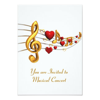 Invitation for Musical Concert in Gold Lettering