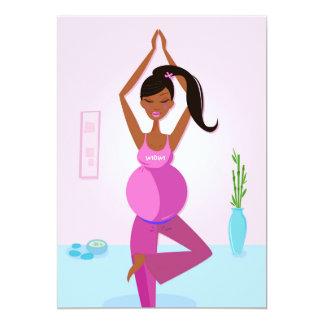 Invitation for yoga Mom : pink